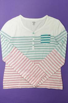 vetement d'occasion enfants Tee-shirt manches longues rayé - 16 ans Tommy Hilfiger 12 ans Tommy Hilfiger
