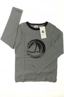 vetement occasion enfants Tee-shirt manches longues milleraies - NEUF Petit Bateau 8 ans Petit Bateau