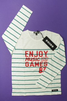 vetement occasion enfants Tee-shirt manches longues rayé - NEUF Ooxoo 8 ans Ooxoo