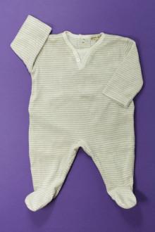 vêtements bébés Pyjama/Dors-bien rayé en velours Grain de Blé 1 mois Grain de Blé