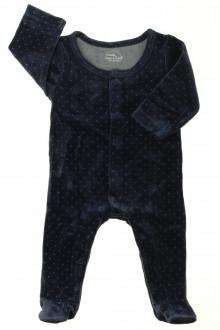 vetement bébé d occasion Pyjama/Dors-bien en velours à pois Tape à l'œil 3 mois Tape à l'œil