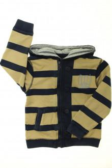 vetement occasion enfants Sweat zippé à rayures YCC214 6 ans YCC214