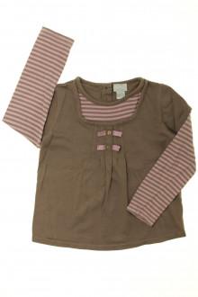 vetement occasion enfants Tee-shirt manches longues rayé Cyrillus 6 ans Cyrillus
