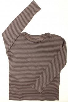 vetement  occasion Tee-shirt manches longues rayé Monoprix 12 ans Monoprix