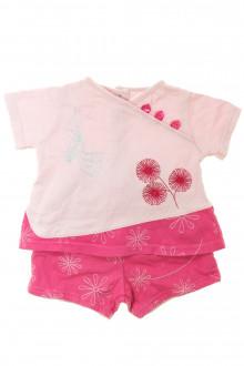 habits bébé Ensemble tee-shirt et short Marèse 1 mois Marèse