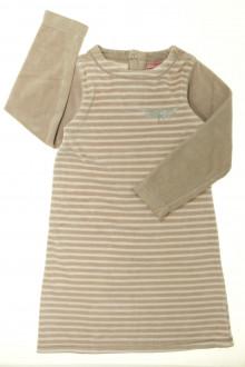 vetements enfant occasion Chemise de nuit en velours rayée DPAM 6 ans DPAM