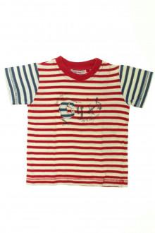 vetements enfants d occasion Tee-shirt manches courtes rayé Clayeux 4 ans Clayeux