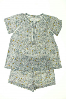 vetements enfant occasion Pyjama court fleuri Monoprix 8 ans Monoprix