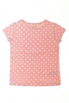 vetement marque occasion Tee-shirt manches courtes à pois Vertbaudet 8 ans Vertbaudet