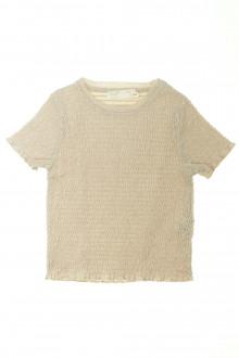 vetements enfants d occasion Tee-shirt gaufré manches courtes Zara 8 ans Zara