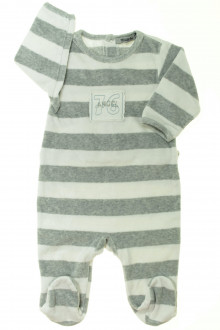 vetement bébé d occasion Pyjama/Dors-bien en velours à rayures Tape à l'œil 3 mois Tape à l'œil