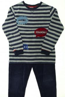 vêtements occasion enfants Pyjama en velours rayé Okaïdi 8 ans Okaïdi