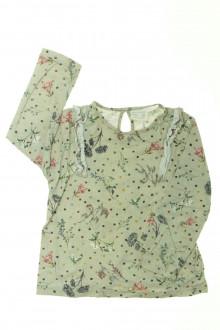 vetement d occasion enfant Tee-shirt manches longues fleuri Zara 4 ans Zara