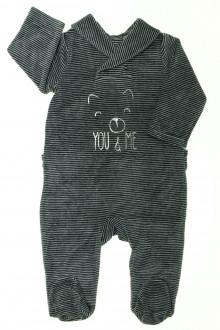 Habits pour bébé Pyjama/Dors-bien en velours milleraies Tape à l'Œil 6 mois Tape à l'œil