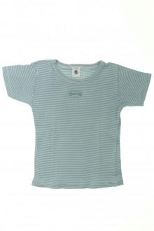 vetement occasion enfants Tee-shirt manches courtes milleraies Petit Bateau 4 ans Petit Bateau