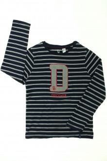 vêtements occasion enfants Tee-shirt manches longues rayé Okaïdi 8 ans Okaïdi