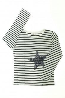 vêtements enfants occasion Tee-shirt manches longues rayé Tape à l'œil 8 ans Tape à l'œil