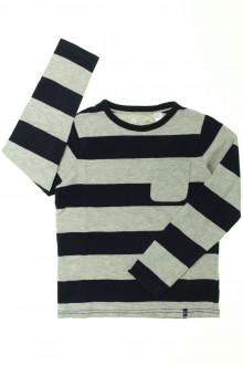 vetement d'occasion Tee-shirt manches longues à rayures Okaïdi 8 ans Okaïdi