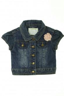 vetement d occasion enfant Veste en jean manches courtes Vertbaudet 3 ans Vertbaudet