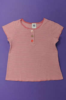 vetements enfants d occasion Tee-shirt manches courtes milleraies Petit Bateau 4 ans Petit Bateau