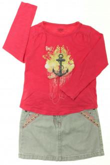 vetement occasion enfants Ensemble jupe et tee-shirt La Compagnie des Petits 5 ans La Compagnie des Petits