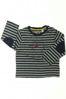 vetement occasion enfants Tee-shirt manches longues rayé Obaïbi 3 ans Obaïbi