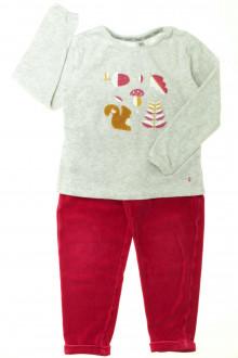 vetement occasion enfants Pyjama en velours Ecureuil
