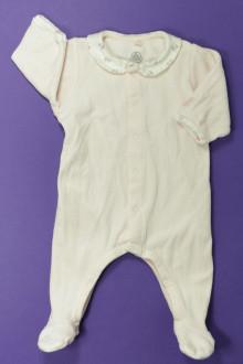 habits bébé Pyjama/Dors-bien en velours Petit Bateau 1 mois Petit Bateau