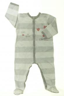 habits bébé Pyjama/Dors-bien en velours à rayures Petit Bateau 18 mois Petit Bateau