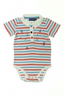 vetement bébé d occasion Body polo manches courtes rayé Sergent Major 3 mois Sergent Major