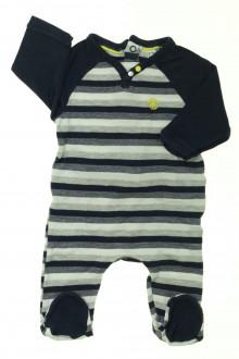 vêtements bébés Pyjama/Dors-bien en coton rayé Obaïbi 3 mois Obaïbi