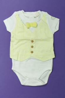 Habit de bébé d'occasion Body manches courtes DPAM 6 mois DPAM
