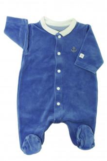 habits bébé Pyjama/Dors-bien en velours Petit Bateau Naissance Petit Bateau