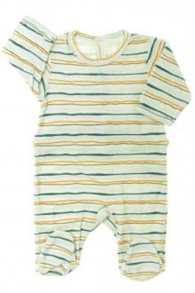 vetement bébé d occasion Pyjama/Dors-bien en velours rayé Vertbaudet Naissance Vertbaudet