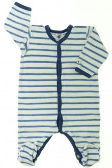 vetements d occasion bébé Pyjama/Dors-bien en velours rayé Petit Bateau 3 mois Petit Bateau