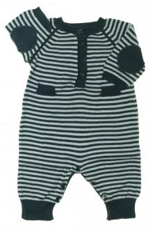 Habits pour bébé occasion Combinaison rayée en maille Zara 1 mois Zara