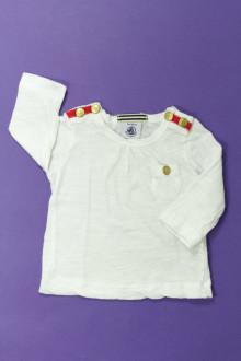 vetements d occasion bébé Tee-shirt manches longues Petit Bateau 3 mois Petit Bateau