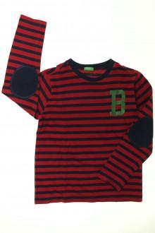 vetements enfants d occasion Tee-shirt manches longues rayé Benetton 8 ans Benetton
