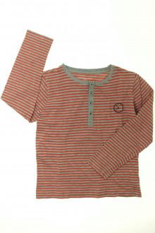 vetements enfant occasion Tee-shirt manches longues rayé Monoprix 8 ans Monoprix