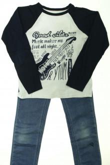 vetements enfants d occasion Ensemble jean et tee-shirt Vertbaudet 8 ans Vertbaudet