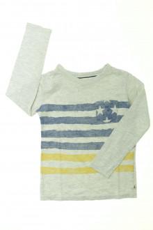vetement occasion enfants Tee-shirt manches longues rayé Okaïdi 5 ans Okaïdi