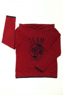 vetement  occasion Tee-shirt manches longues à capuche Okaïdi 6 ans Okaïdi