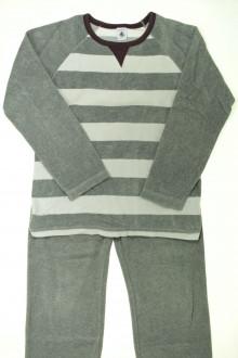 vetements enfants d occasion Pyjama en velours à rayures Petit Bateau 10 ans Petit Bateau