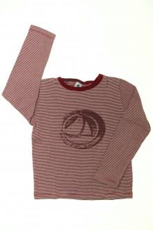 vetement occasion enfants Tee-shirt manches longues milleraies Petit Bateau 8 ans Petit Bateau