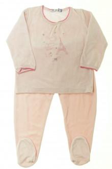 vêtements occasion enfants Pyjama à pieds en velours Petit Bateau 3 ans Petit Bateau