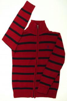 vetements enfants d occasion Gilet rayé zippé Ralph Lauren 12 ans Ralph Lauren