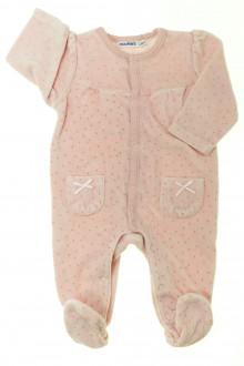 Habits pour bébé Pyjama/Dors-bien en velours à pois Noukie's 3 mois Noukie's