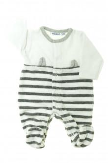Habit de bébé d'occasion Pyjama/Dors-bien rayé en velours - Prématuré Noukie's Naissance Noukie's