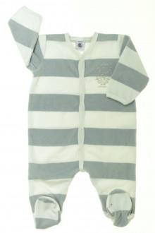 vêtements bébés Pyjama/Dors-bien en velours à rayures Petit Bateau 6 mois Petit Bateau