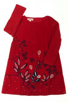 vêtements occasion enfants Robe brodée en velours fin DPAM 3 ans DPAM